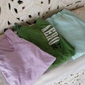 Pj 3 item Set Capri Sweatpants & Soft Long tee